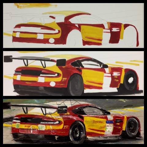 Abstract Motorsport Art